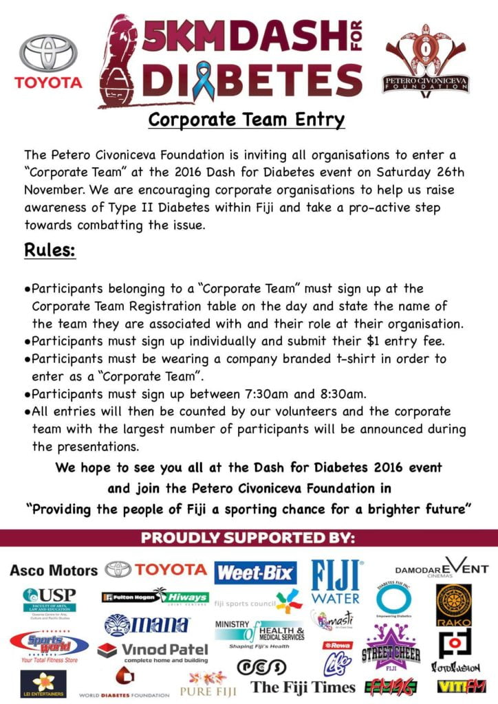 Corporate Team Entry Information